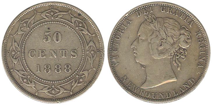 50 cents 1888 - Newfoundland