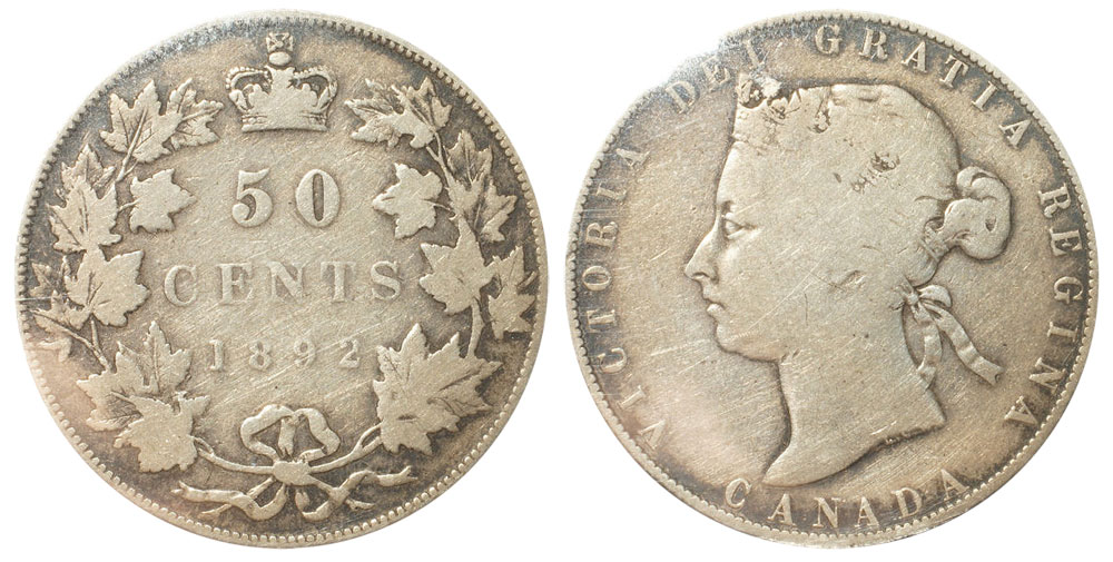 50 cents 1892