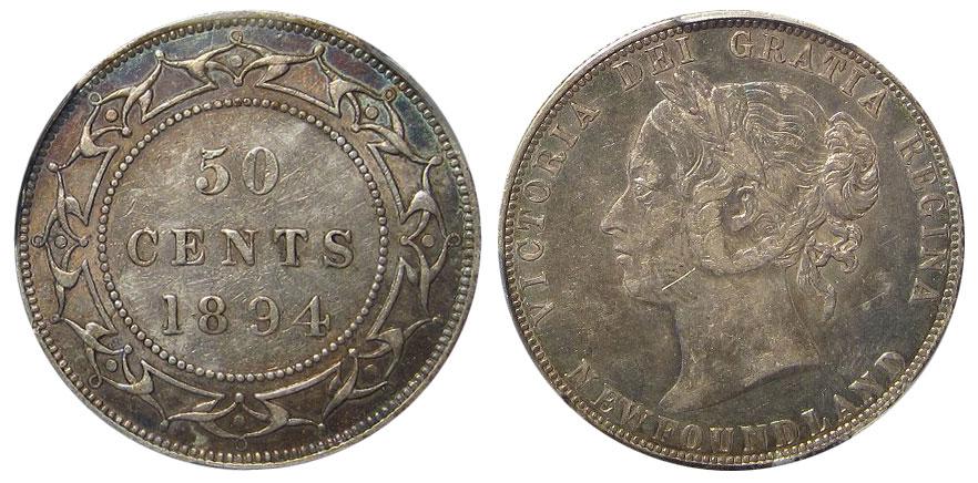 50 cents 1894 - Newfoundland
