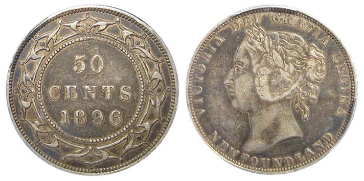 50 cents 1896 - Newfoundland