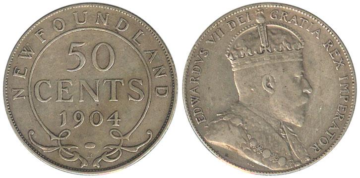 50 cents 1904 - Newfoundland