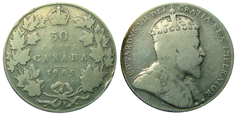 50 cents 1905