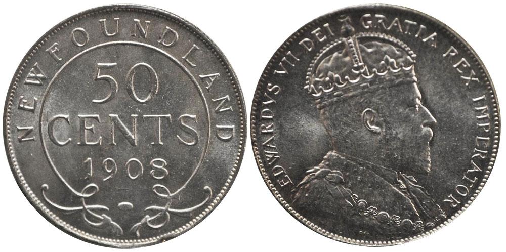 50 cents 1908 - Newfoundland