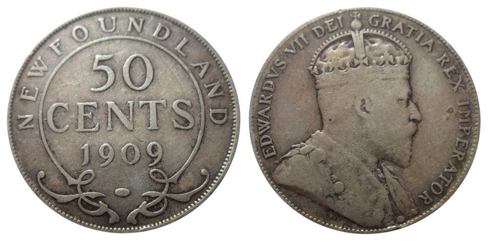 50 cents 1909 - Newfoundland