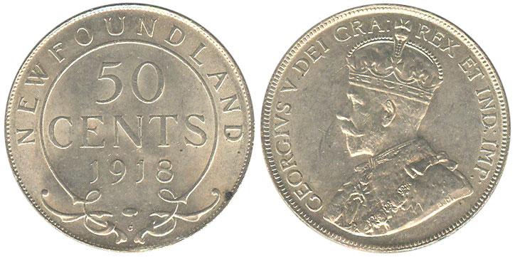50 cents 1918 - Newfoundland