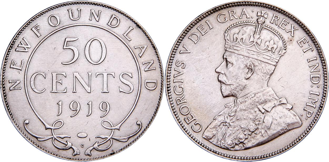 50 cents 1919 - Newfoundland