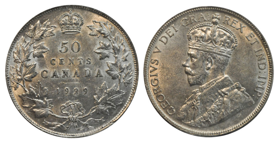 50 cents 1929