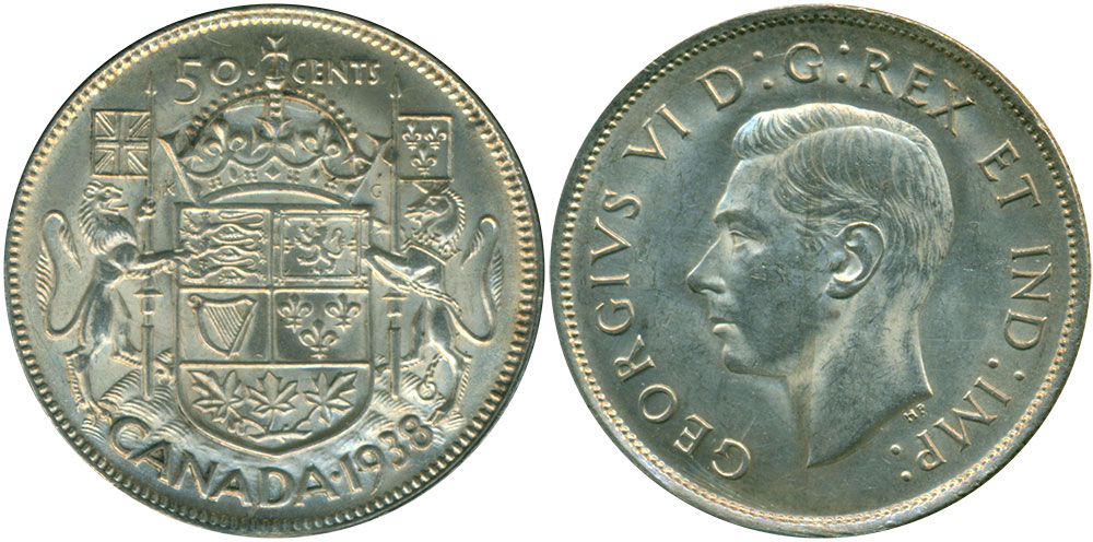 50 cents 1938