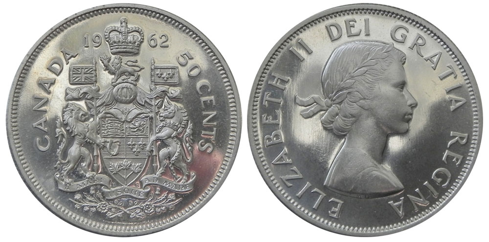 Coins And Canada 50 Cents 1962 Canadian Coins Price