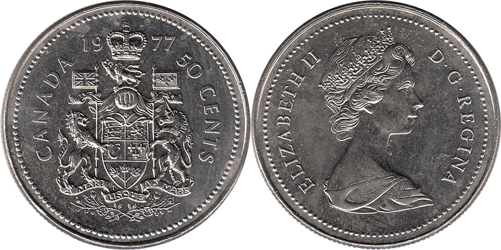 1977 CANADA 50 CENTS PROOF-LIKE HALF DOLLAR COIN