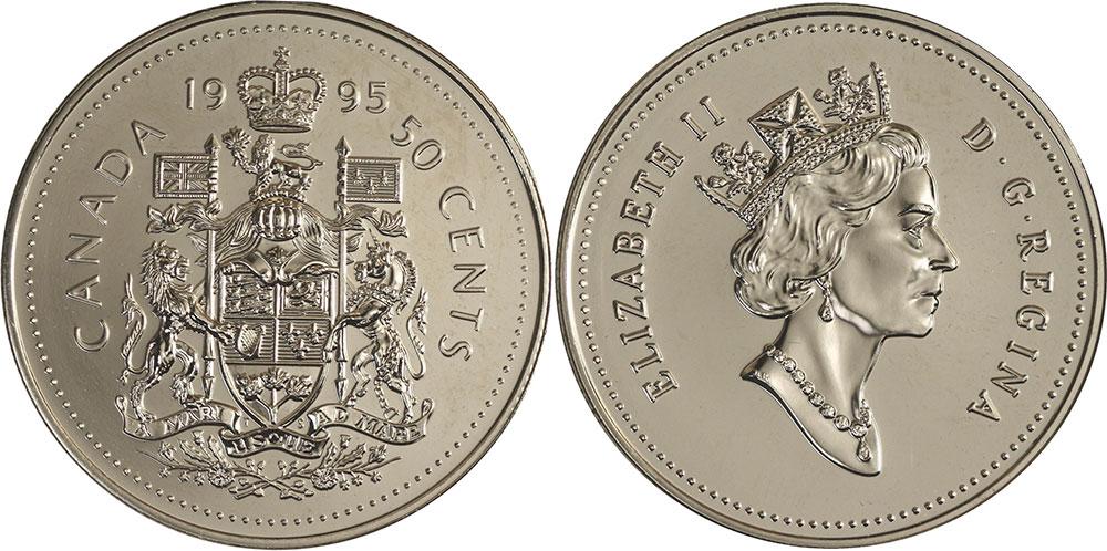 1995 CANADA 50¢ HALF DOLLAR COIN BRILLIANT UNCIRCULATED COIN