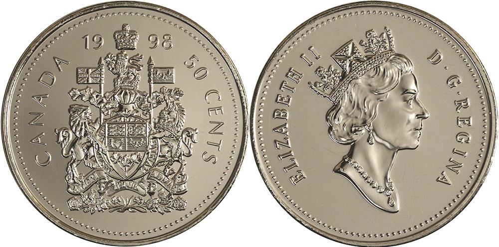 1998 CANADA 50 CENTS SPECIMEN HALF DOLLAR COIN