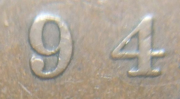 1 cent 1894 - Normal 4