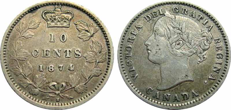 10 cents 1874