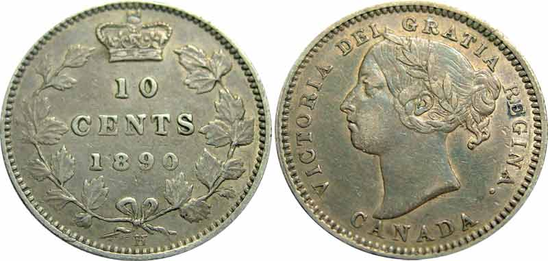 10 cents 1890