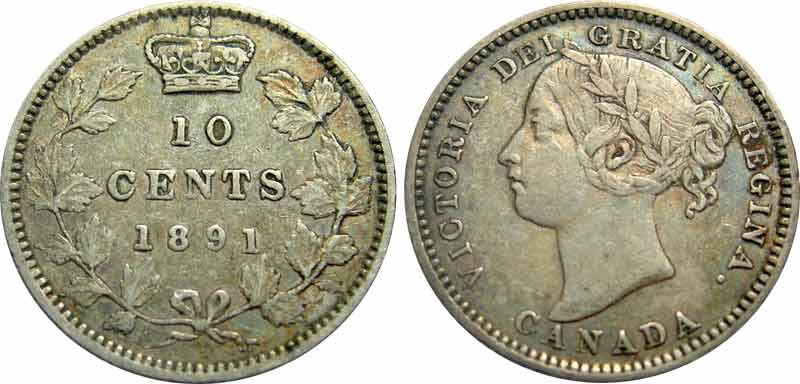 10 cents 1891