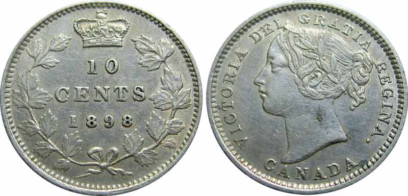10 cents 1898