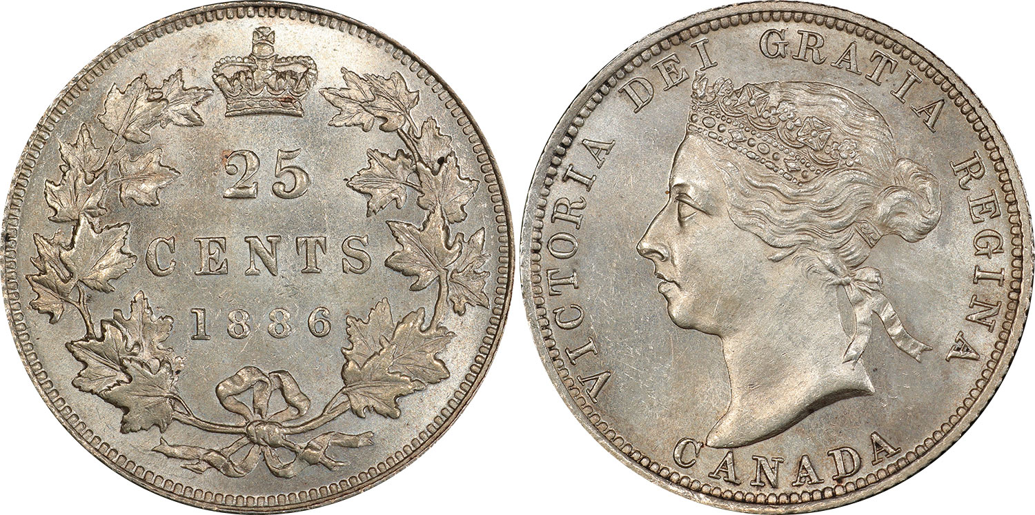 25 cents 1886