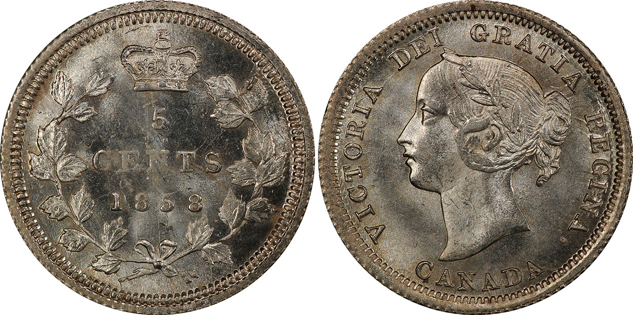 5 cents 1858
