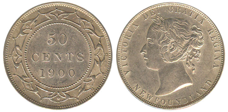 50 cents 1900 - Newfoundland