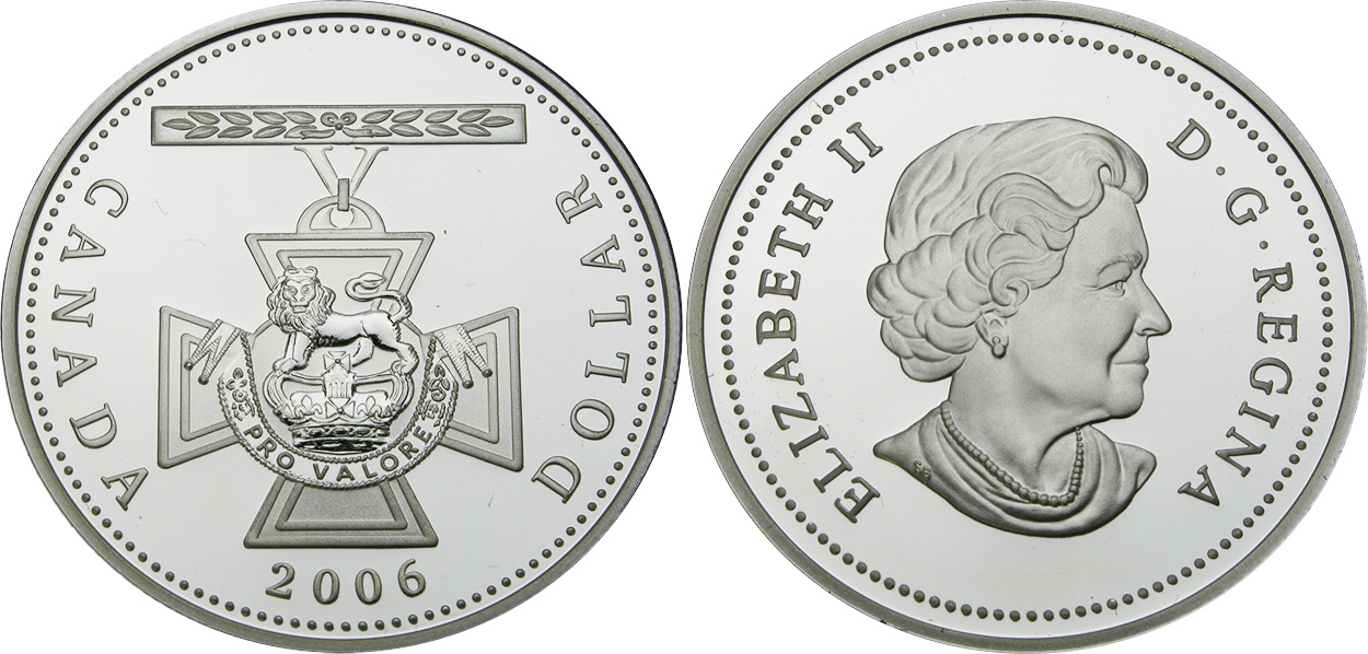2006 Royal Canadian Mint Proof Silver Dollar Victoria Cross