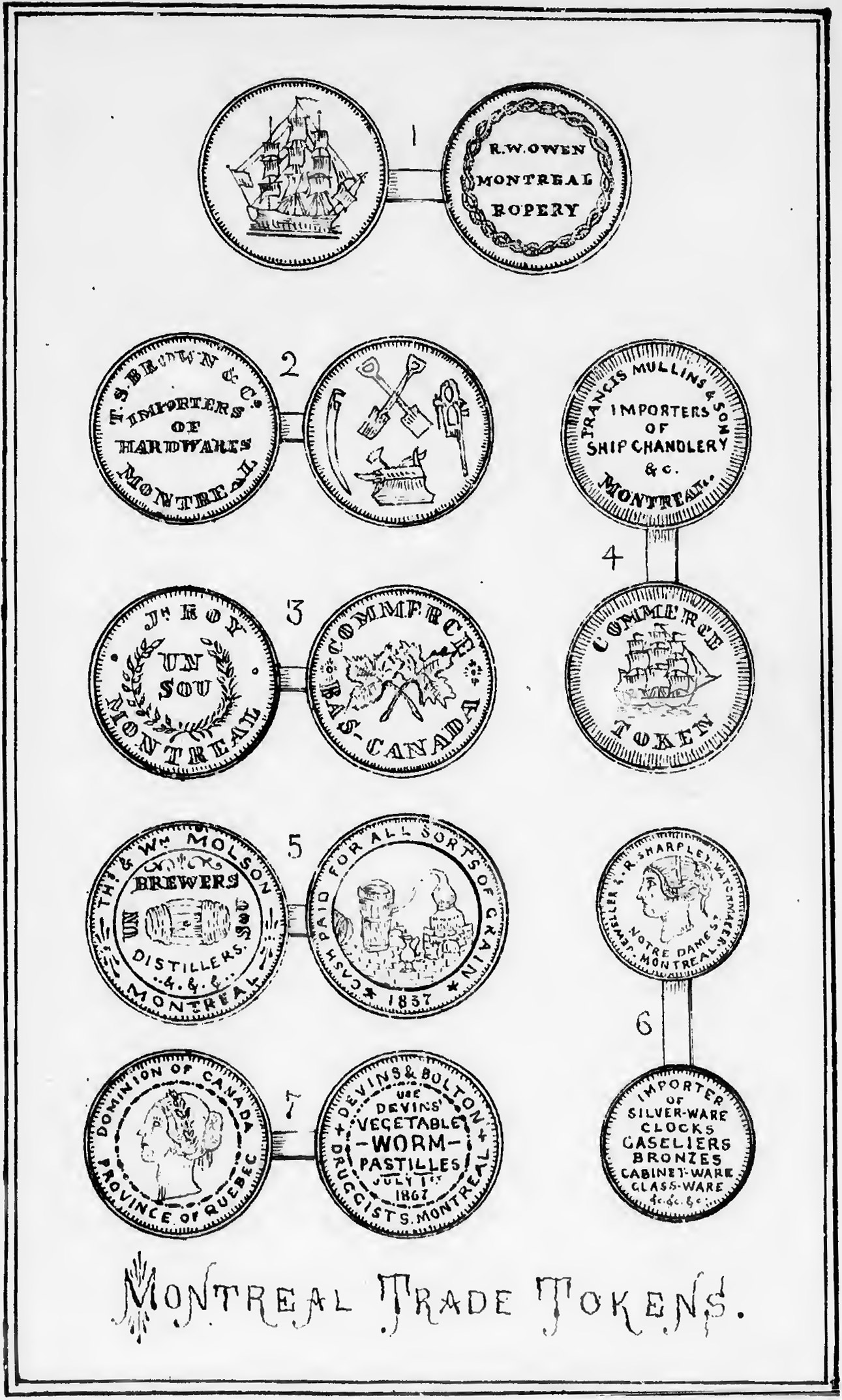 Montreal Trade Tokens
