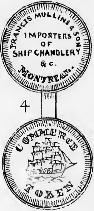 Montreal Trade Tokens - Francis Mullins & Son - 1/2 penny 1829