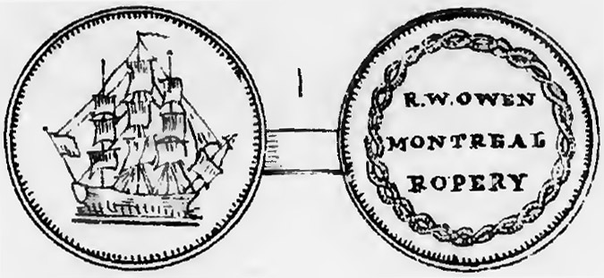 Montreal Trade Tokens - R.W. Owen - Montreal Ropery